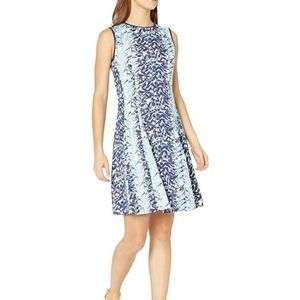 Julian Taylor Fit and Flare Sleeveless Dress